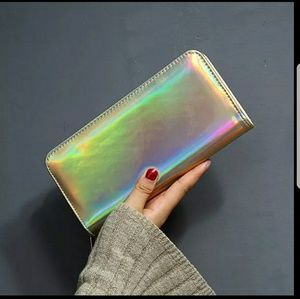 Handbags - GOLD HOLOGRAPHIC WALLET